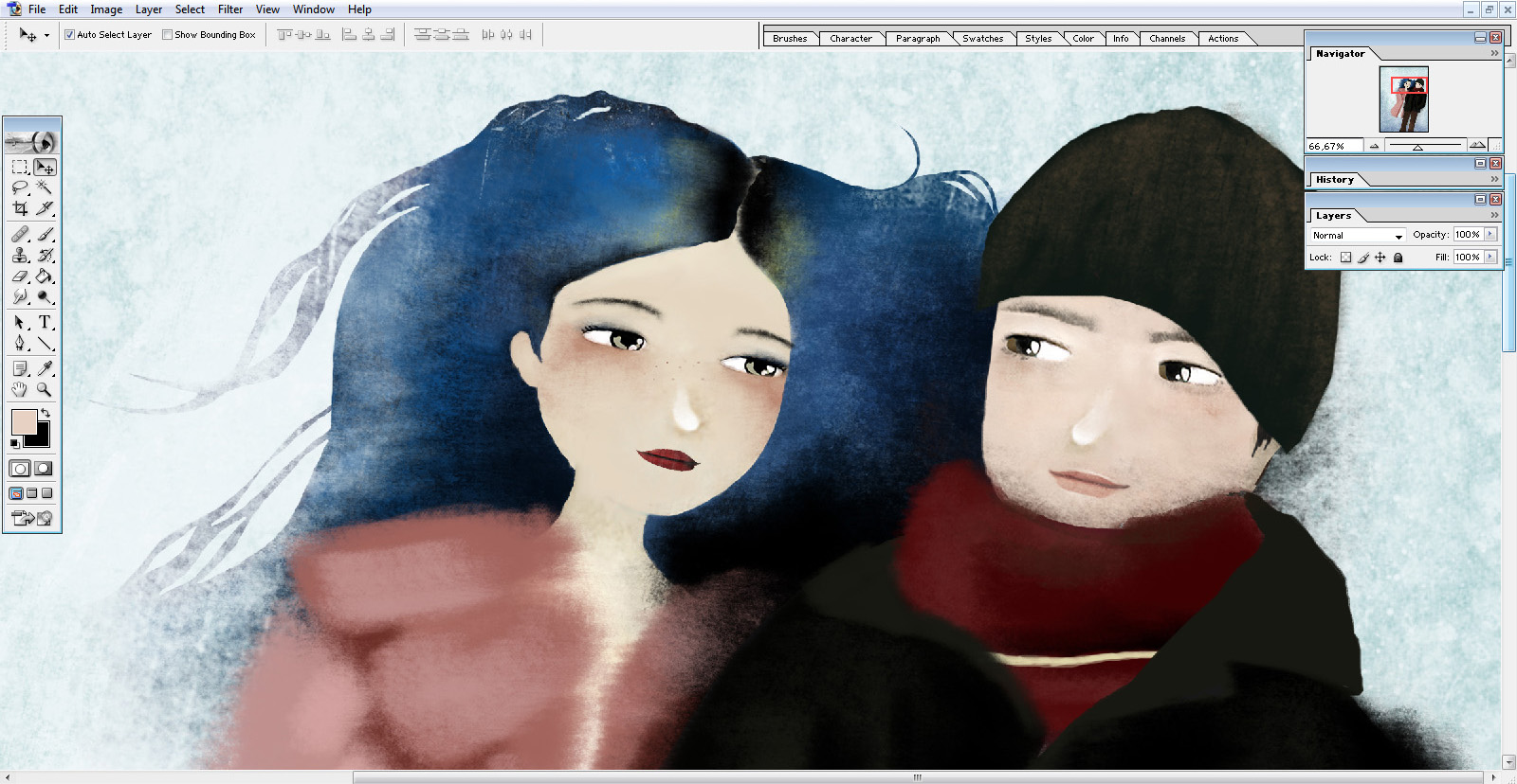 wip - Joel & Clementine - Eternal Sunshine of the Spotless Mind  © Copyright Anne-Julie Aubry