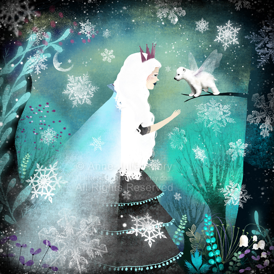 """Snow Queen and Fairy Bear"" - ©2013 Anne-Julie Aubry"