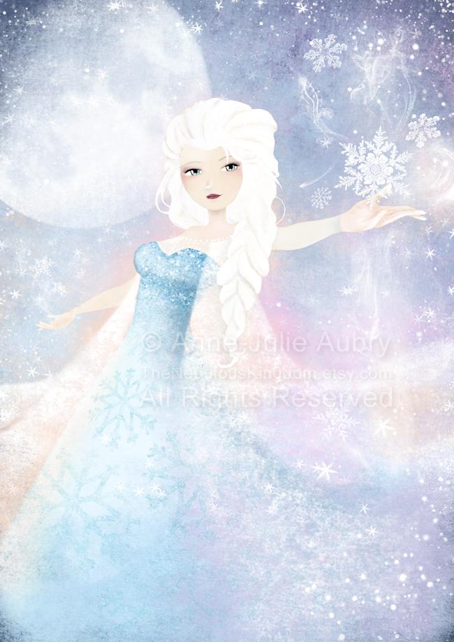 "Fanart of Elsa from Disney's ""Frozen"" - © 2014  Anne-Julie Aubry -  www.annejulie-art.com"