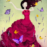 """Mariposa"" - illustration © 2014 Anne-Julie Aubry - www.annejulie-art.com - https://www.etsy.com/shop/TheNebulousKingdom"