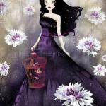 """""""Purple Meadow"""" - illustration © 2014 Anne-Julie Aubry - www.annejulie-art.com - https://www.etsy.com/shop/TheNebulousKingdom"""