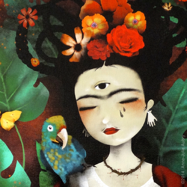 """My Own Reality"" (Frida Kahlo) - Anne-Julie Aubry 2014"