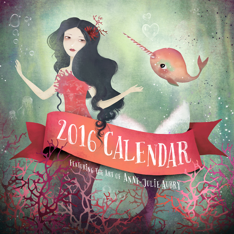 2016 Calendar by Anne-Julie Aubry - https://www.thenebulouskingdom.com