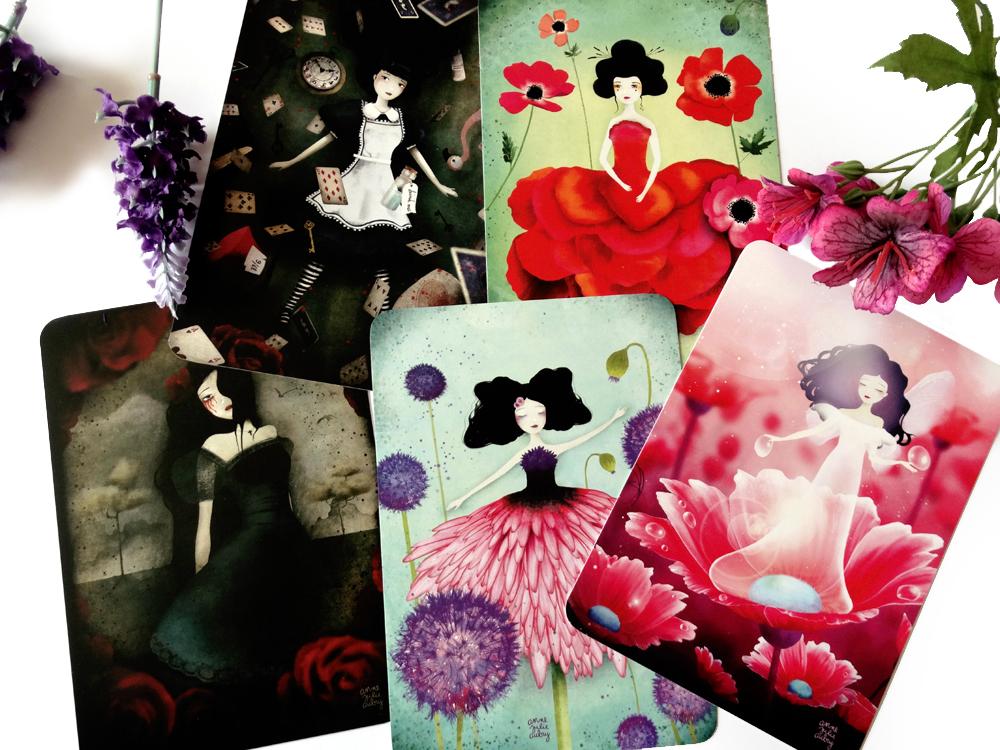 Postcards from etsy shop TheNebulousKingdom - Anne-Julie Aubry