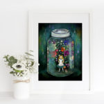 """alice in a jar"" framed print - © Copyright Anne-Julie Aubry 2018"