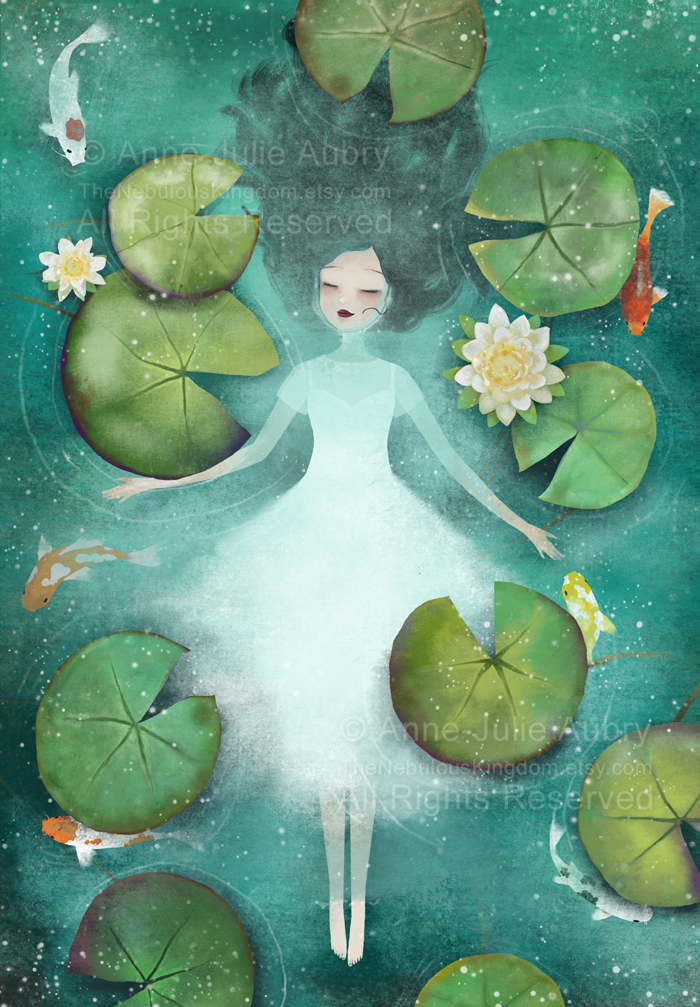 Lotus - Illustration par Anne-Julie Aubry (c) 2018