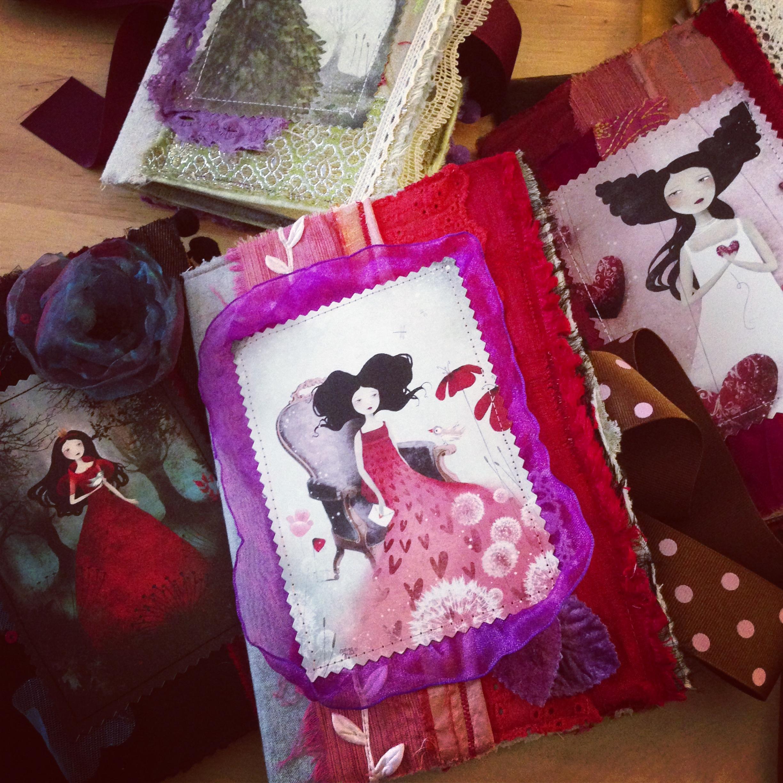 Handmade fabric journals - 2013 © Anne-Julie Aubry