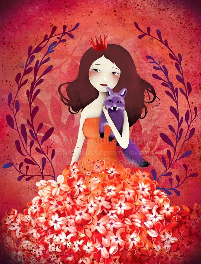 """Purple Fox"" - 2013 © Anne-Julie Aubry"