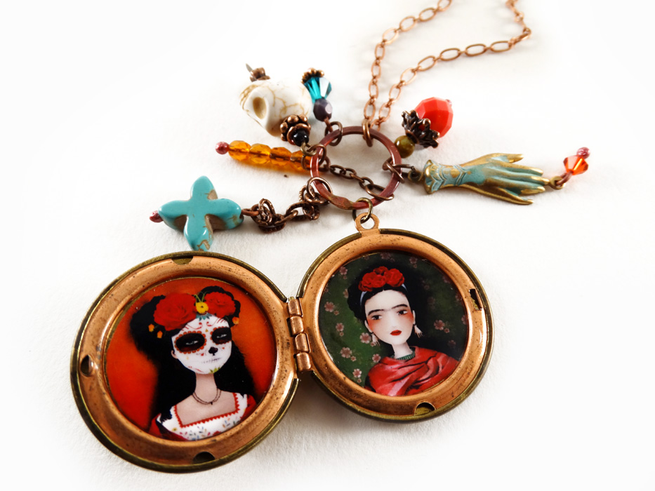 Frida y Catrina necklace - 2013 © Anne-Julie Aubry