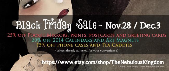 Black Friday Sale in the Shop ! Nov.28 / Dec.3 - https://www.etsy.com/shop/TheNebulousKingdom