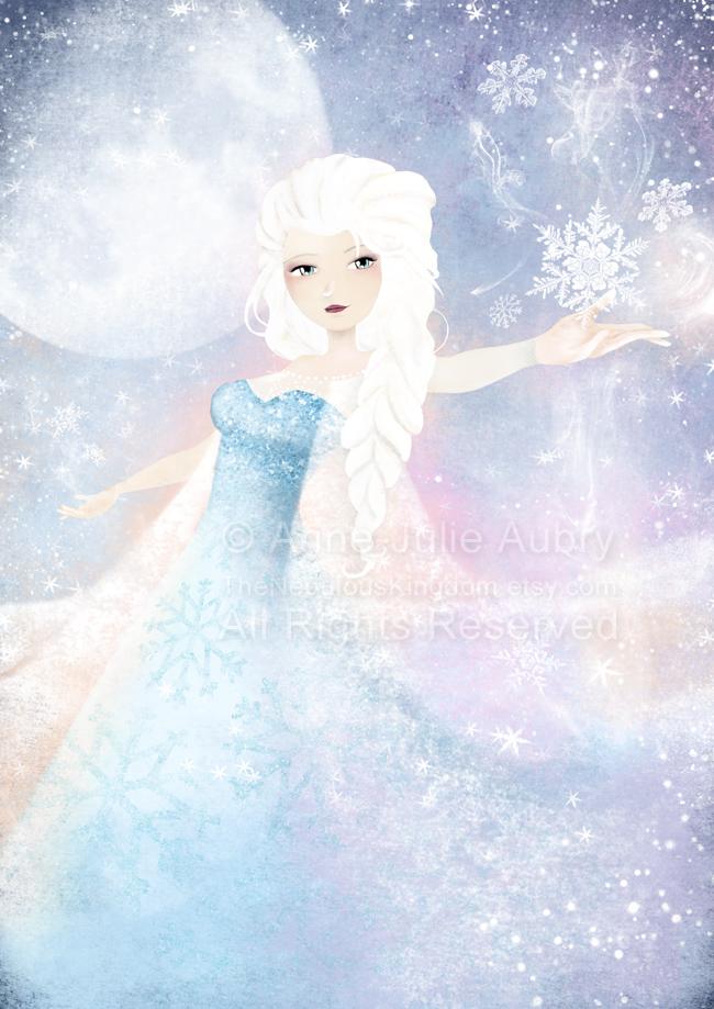 """Fanart of Elsa from Disney's """"Frozen"""" - © 2014  Anne-Julie Aubry -  www.annejulie-art.com"""