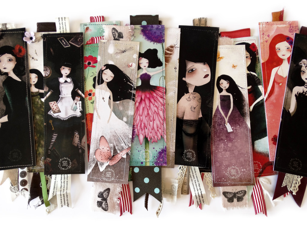 Bookmarks with new design© 2014  Anne-Julie Aubry -  www.annejulie-art.com - https://www.etsy.com/shop/TheNebulousKingdom