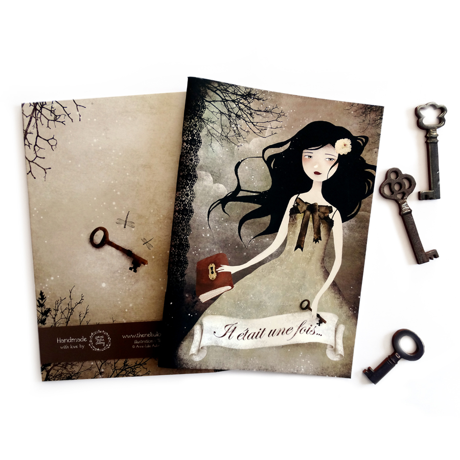 """Il Etait une Fois"" Handmade Notebook by Anne-Julie Aubry -  www.annejulie-art.com - https://www.etsy.com/shop/TheNebulousKingdom"