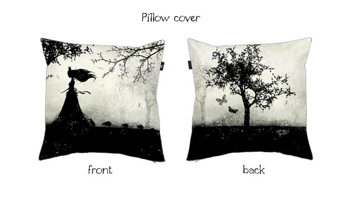 """Follow Me"" pillow cover  by Anne-Julie Aubry - available at : http://envelop.eu/shop/designers/p/detail/the-nebulous-kingdom"