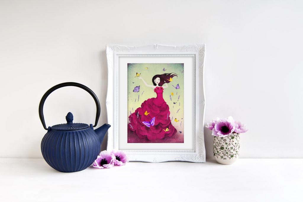 """Mariposa"" - Illustration : © 2016 Anne-Julie Aubry - annejulie-art.com / thenebulouskingdom.com"