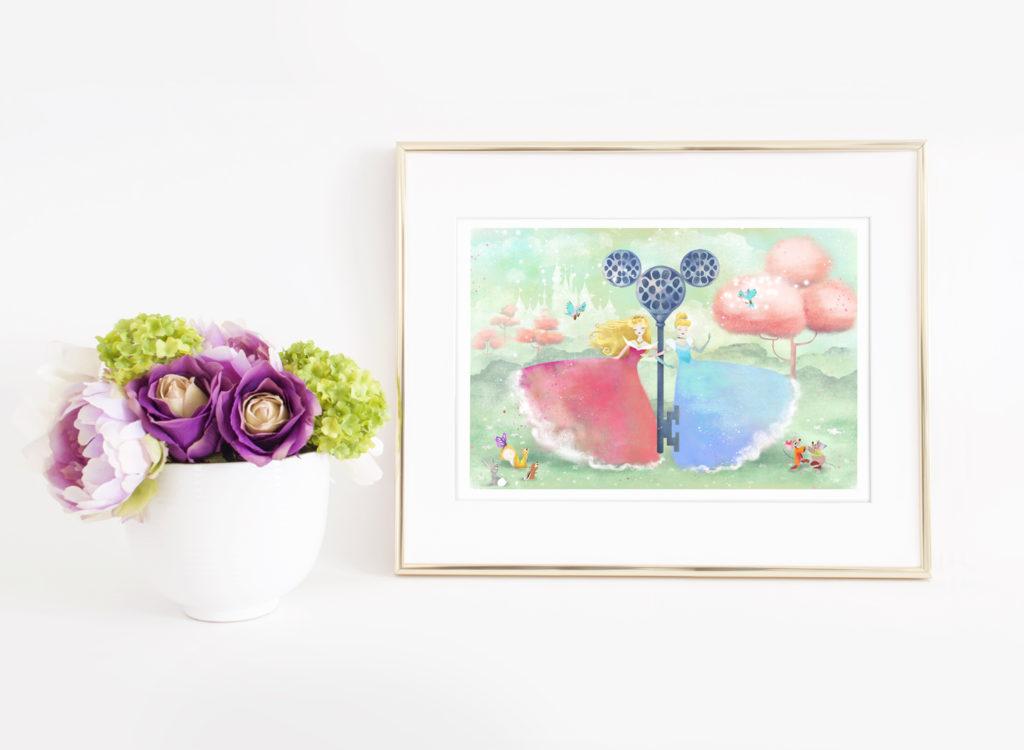 Aurora & Cinderella - (c)2017 Anne-Julie Aubry x Disney