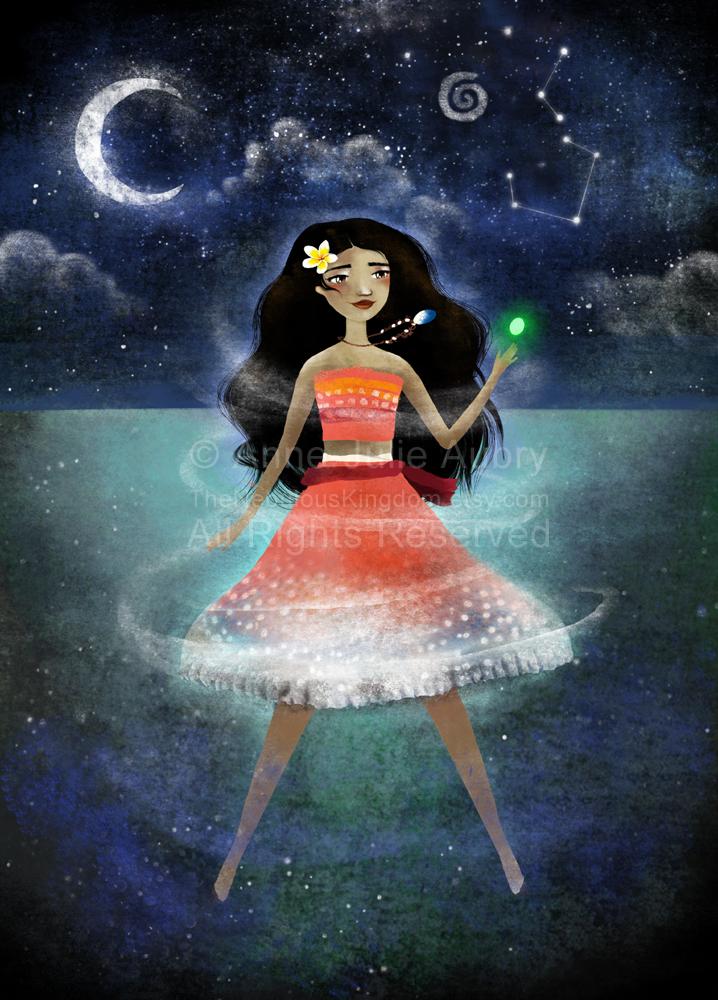 Moana - Vaiana - Disney inspiration (c)2017 Anne-Julie Aubry