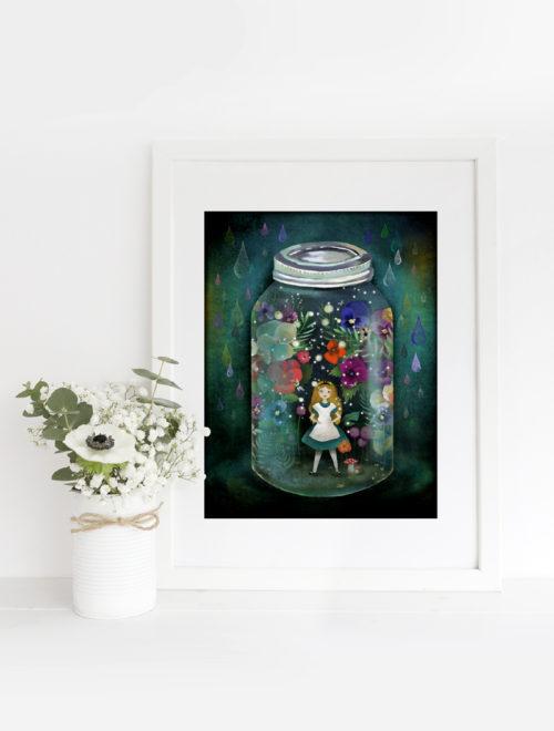 """alice in a jar"" framed print - © Copyright Anne-Julie Aubry 2018"