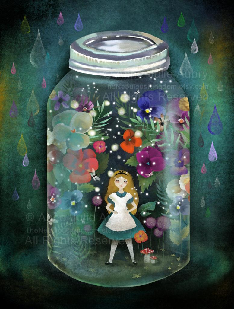"""alice in a jar""- © Copyright Anne-Julie Aubry 2018"
